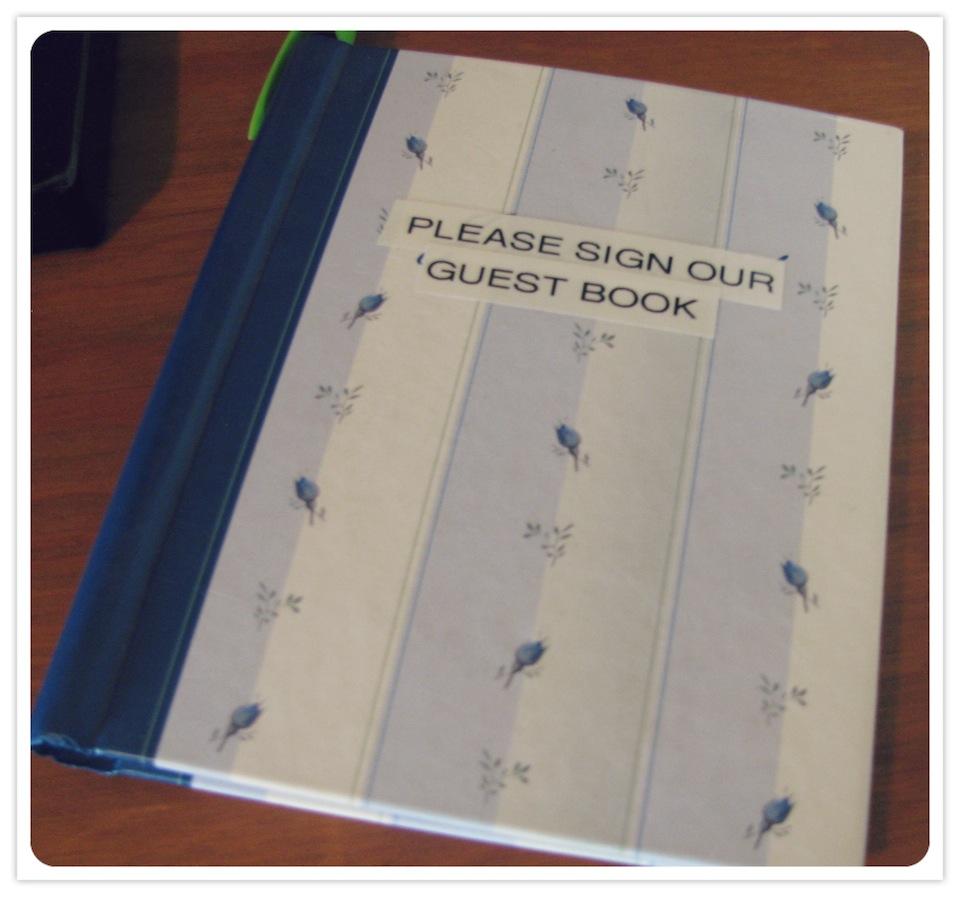 Julies Guest Book